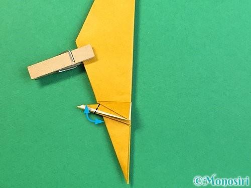 折り紙で鷲(鷹)の折り方手順45