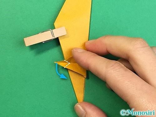 折り紙で鷲(鷹)の折り方手順48
