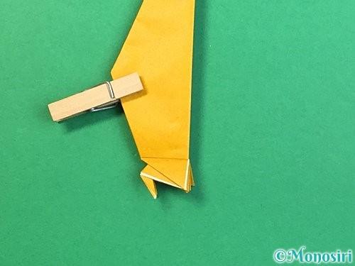 折り紙で鷲(鷹)の折り方手順51