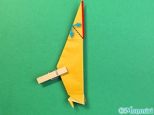 折り紙で鷲(鷹)の折り方手順52