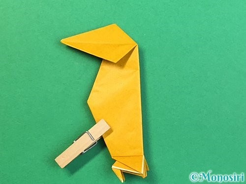 折り紙で鷲(鷹)の折り方手順59