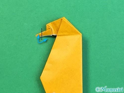 折り紙で鷲(鷹)の折り方手順65