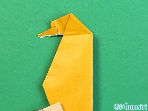 折り紙で鷲(鷹)の折り方手順66