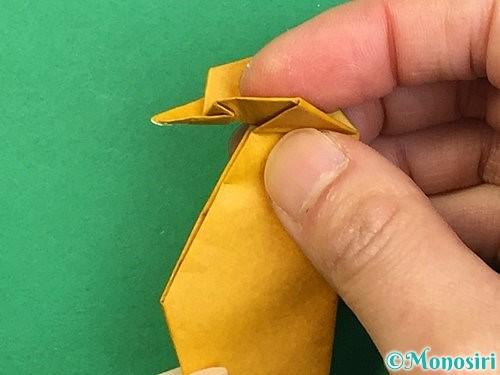折り紙で鷲(鷹)の折り方手順67