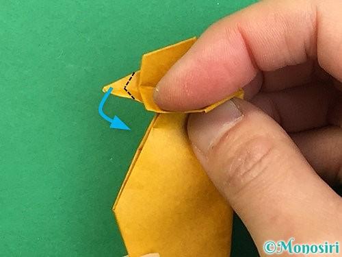 折り紙で鷲(鷹)の折り方手順68