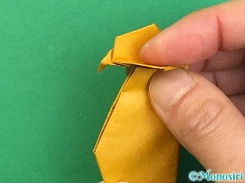 折り紙で鷲(鷹)の折り方手順69