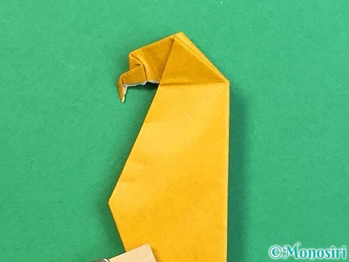 折り紙で鷲(鷹)の折り方手順70