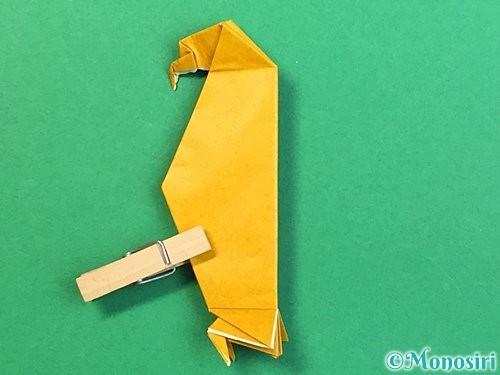 折り紙で鷲(鷹)の折り方手順71