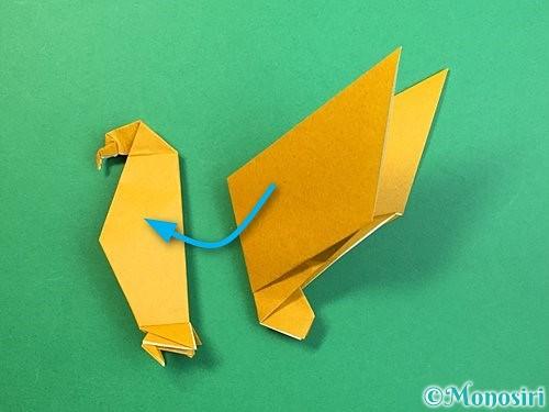 折り紙で鷲(鷹)の折り方手順72