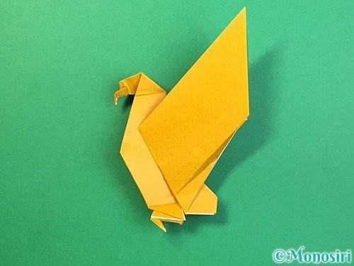 折り紙で鷲(鷹)の折り方手順73