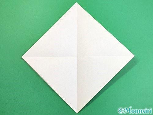 折り紙でウミガメの折り方手順2