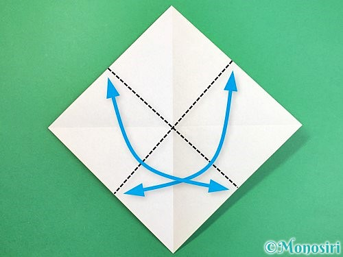 折り紙でウミガメの折り方手順3