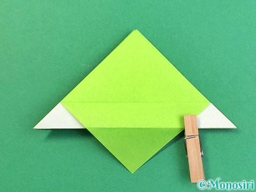 折り紙でウミガメの折り方手順18