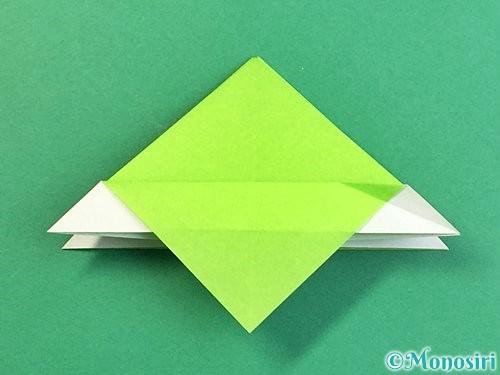 折り紙でウミガメの折り方手順20