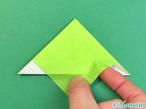 折り紙でウミガメの折り方手順21