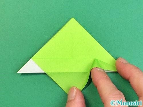 折り紙でウミガメの折り方手順22