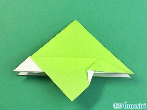 折り紙でウミガメの折り方手順23