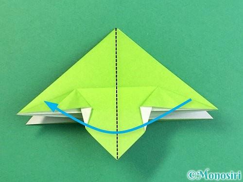 折り紙でウミガメの折り方手順25