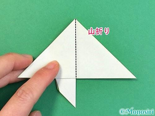 折り紙でウミガメの折り方手順27
