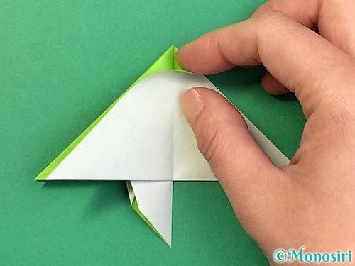折り紙でウミガメの折り方手順28