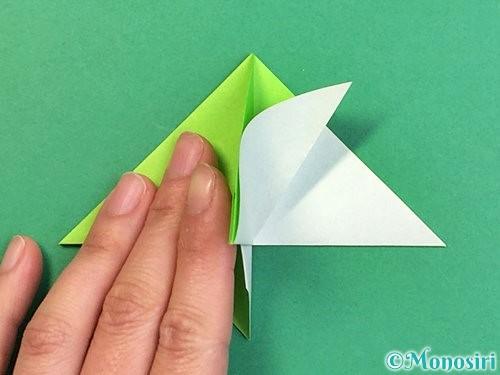 折り紙でウミガメの折り方手順30