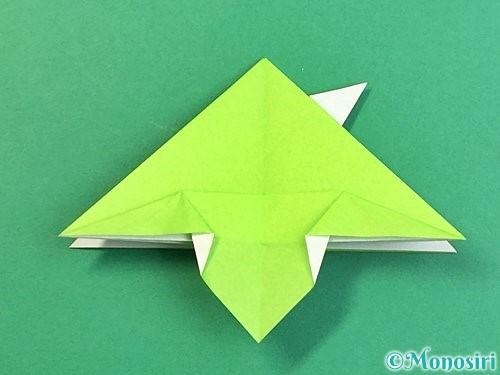 折り紙でウミガメの折り方手順32