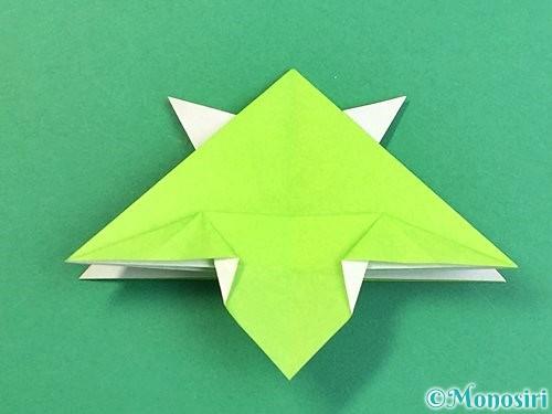 折り紙でウミガメの折り方手順33
