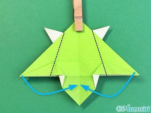 折り紙でウミガメの折り方手順34
