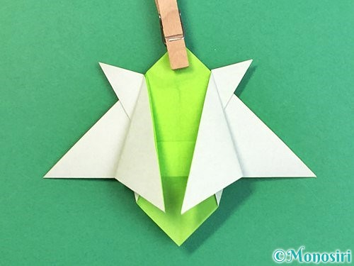 折り紙でウミガメの折り方手順35