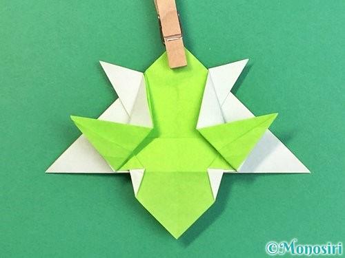 折り紙でウミガメの折り方手順37