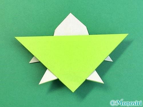 折り紙でウミガメの折り方手順38