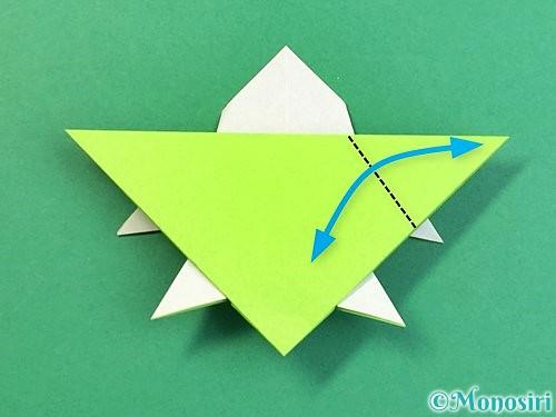 折り紙でウミガメの折り方手順39