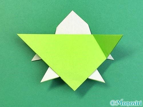 折り紙でウミガメの折り方手順40
