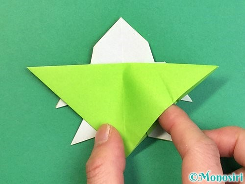 折り紙でウミガメの折り方手順41