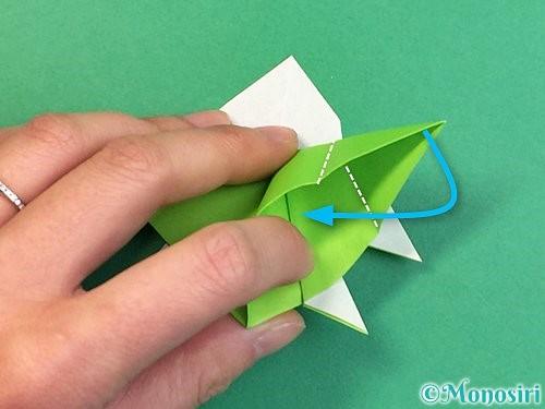 折り紙でウミガメの折り方手順42