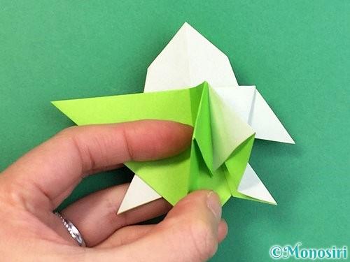 折り紙でウミガメの折り方手順43