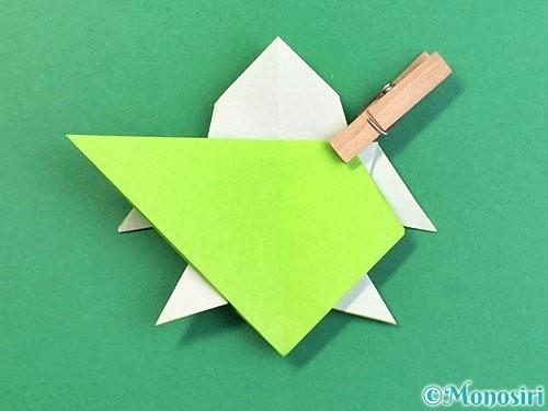 折り紙でウミガメの折り方手順44