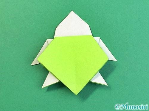 折り紙でウミガメの折り方手順45