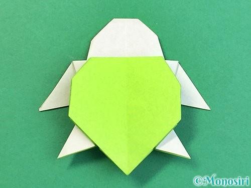 折り紙でウミガメの折り方手順47