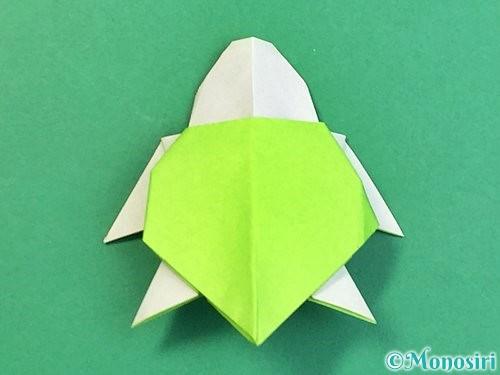 折り紙でウミガメの折り方手順49