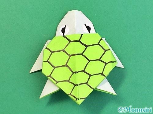 折り紙でウミガメの折り方手順50