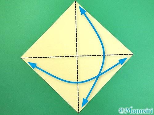 折り紙でアヒルの折り方手順1