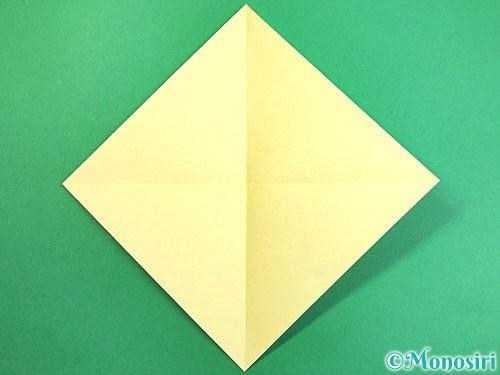 折り紙でアヒルの折り方手順2
