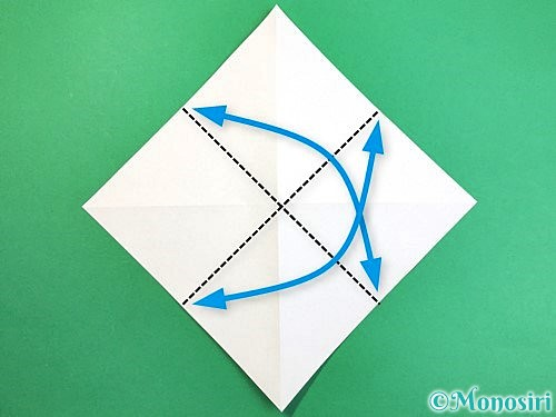 折り紙でアヒルの折り方手順4
