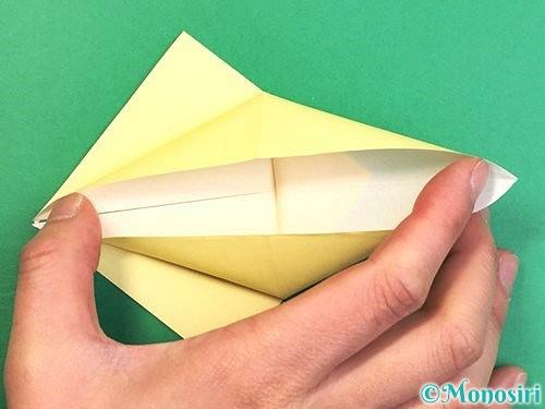 折り紙でアヒルの折り方手順14