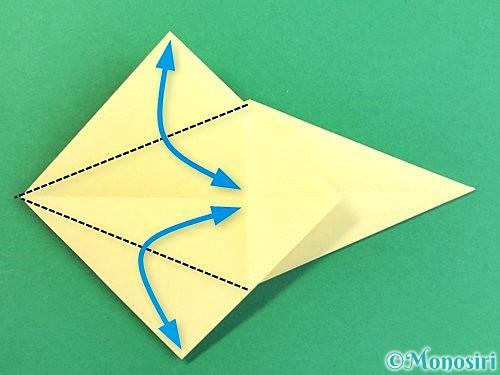 折り紙でアヒルの折り方手順17