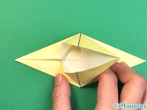 折り紙でアヒルの折り方手順24