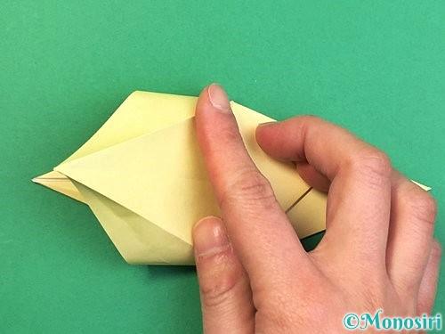 折り紙でアヒルの折り方手順25