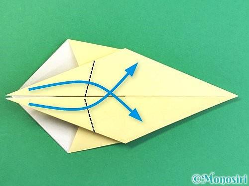 折り紙でアヒルの折り方手順28
