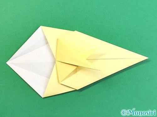 折り紙でアヒルの折り方手順29